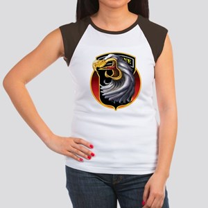 Screamin' Eagles Badge Women's Cap Sleeve T-Shirt