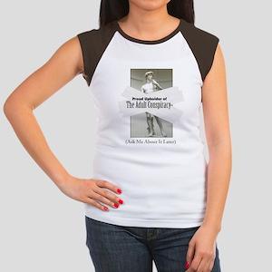 Adult Conspiracy Women's Cap Sleeve T-Shirt