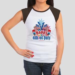 Happy 4th of July Women's Cap Sleeve T-Shirt