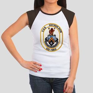 USS NICHOLSON Junior's Cap Sleeve T-Shirt