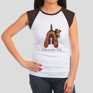 Airedale Terrier Talk Women's Cap Sleeve T-Shirt