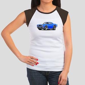 1969 Super Bee Blue Car Women's Cap Sleeve T-Shirt