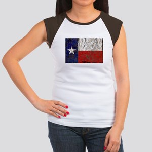 Texas Retro State Flag Women's Cap Sleeve T-Shirt