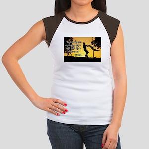 Mr. Rogers Child Hero Quote Women's Cap Sleeve T-S