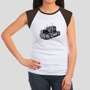 Kenworth W900 Black Truck Women's Cap Sleeve T-Shi