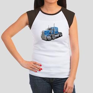 Kenworth W900 Lt Blue Truck Women's Cap Sleeve T-S