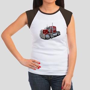 Kenworth W900 Maroon Truck Women's Cap Sleeve T-Sh