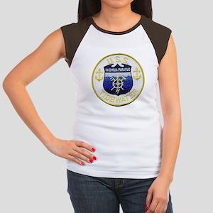 USS TIDEWATER Junior's Cap Sleeve T-Shirt