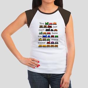 Too Many Trains Women's Cap Sleeve T-Shirt