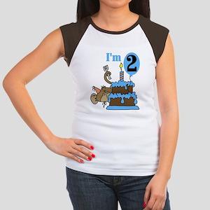 BLUEMONKEY2ndBDAY Women's Cap Sleeve T-Shirt