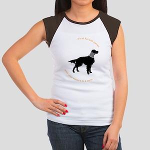 Setter Cone Black Women's Cap Sleeve T-Shirt
