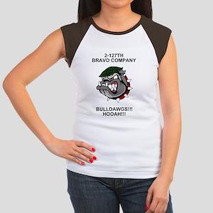 ARNG-127th-Infantry-B-C Women's Cap Sleeve T-Shirt