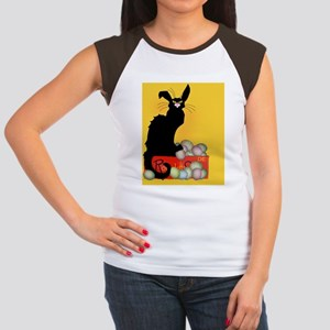 Happy Easter - Le Chat  Women's Cap Sleeve T-Shirt