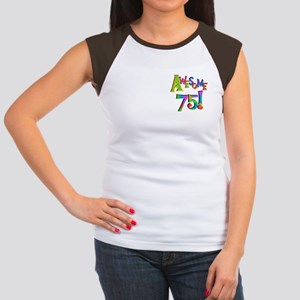 Awesome 75 Birthday Women's Cap Sleeve T-Shirt