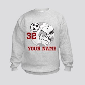 Snoopy Soccer - Personalized Kids Sweatshirt