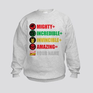 Mighty Incredible Invincible Amazi Kids Sweatshirt