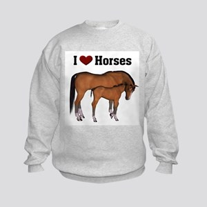 Love My Horse Kids Sweatshirt