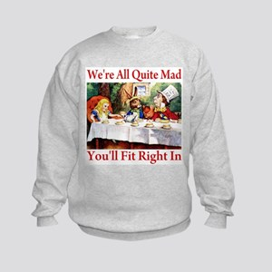 WE'RE ALL QUITE MAD Kids Sweatshirt