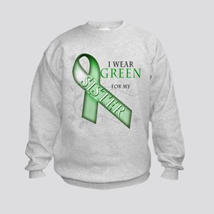 I Wear Green for my Sister Kids Sweatshirt