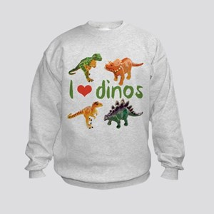 I Love Dinos Kids Sweatshirt