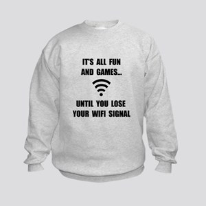 Lose Your WiFi Kids Sweatshirt