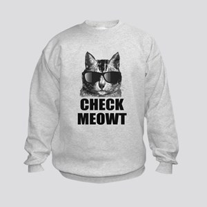 Check Meowt Kids Sweatshirt