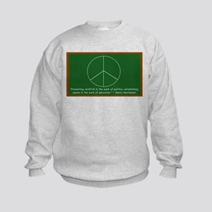 Montessori Peace Quote Kids Sweatshirt
