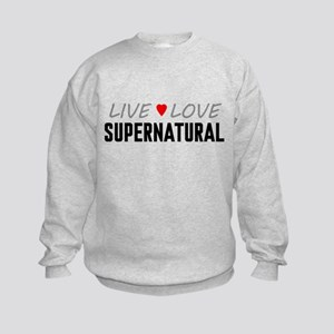 Live Love Supernatural Kids Sweatshirt