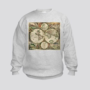 Vintage Map Kids Sweatshirt