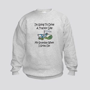 Cute Tractor Like My Grandpa Kids Sweatshirt