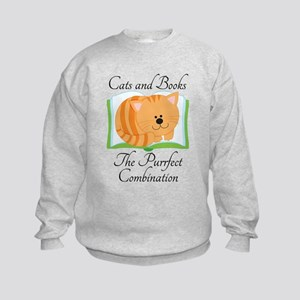 Cats and Books Kids Sweatshirt