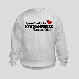 Somebody In New Hampshire Loves Me Kids Sweatshirt
