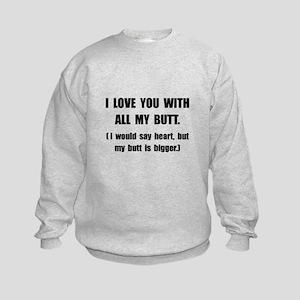 Boyfriend Kids Crewneck Sweatshirts - CafePress