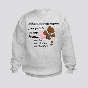 Muddy paws on my heart Sweatshirt