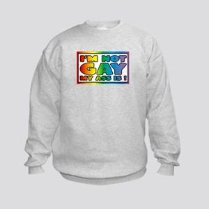 I'm not gay my ass is Kids Sweatshirt