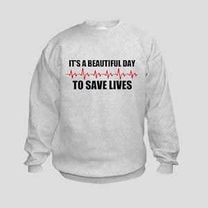 A beautiful day Kids Sweatshirt