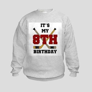 Hockey 8th Birthday Kids Sweatshirt