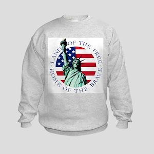 Liberty & American flag Kids Sweatshirt