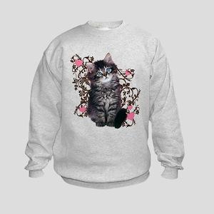 Cute Kitten Kitty Cat Lover Kids Sweatshirt