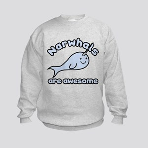Narwhals Are Awesome Kids Sweatshirt