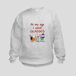 I need glasses Kids Sweatshirt