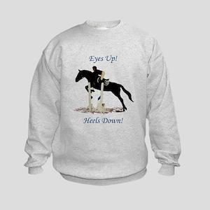 Eyes Up! Heels Down! Horse Kids Sweatshirt