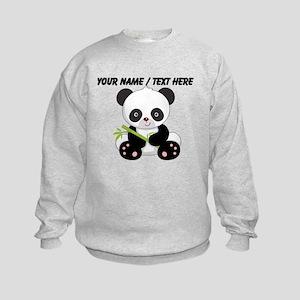 Custom Panda With Bamboo Sweatshirt