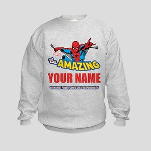 The Amazing Spider-man Personalize Kids Sweatshirt