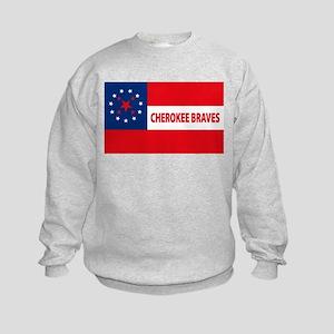 Cherokee Braves Flag Kids Sweatshirt