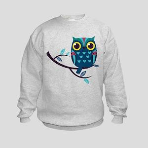 Dark Teal Owl Sweatshirt