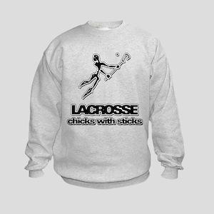 Chicks With Sticks Lacrosse Sweatshirt