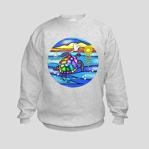 SeaTurtle 8 - round Sweatshirt