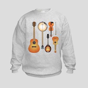 String Instruments Kids Sweatshirt