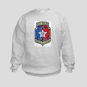 USS Texas CGN 39 Kids Sweatshirt